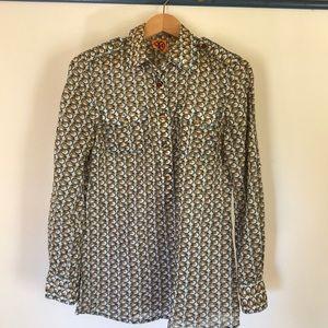 Tory Burch elephant print tunic shirt